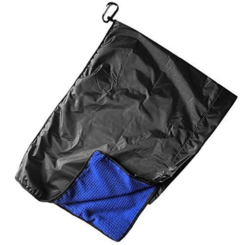 FINGER TEN Golf Rain Hood Towel, Microfiber Waffle Golf Towel with Clip, Rain Hood Cover for Golf Bag
