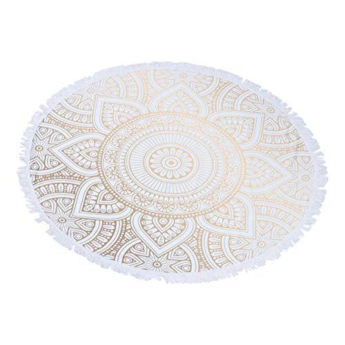 Wakauto Mandala Tapisserie Runde Stranddecke Quaste Werfen Tapisserie Matte Mikrofaser Badetücher Foto Hintergrund Tuch für Badezimmer Meer