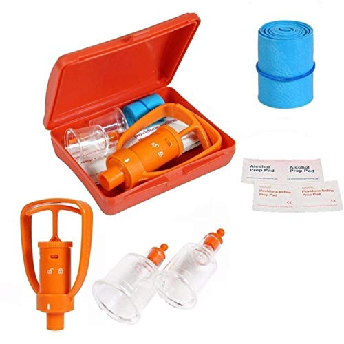 Emergency Venom Extractor Pump First Aid Supplies Kit Snake Bite Bee Sting kit for Hiking Backpacking and Camping