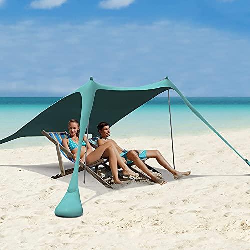 Tenda da spiaggia pop-up, tenda da spiaggia per la famiglia, parasole portatile UPF50+ con borsa per...