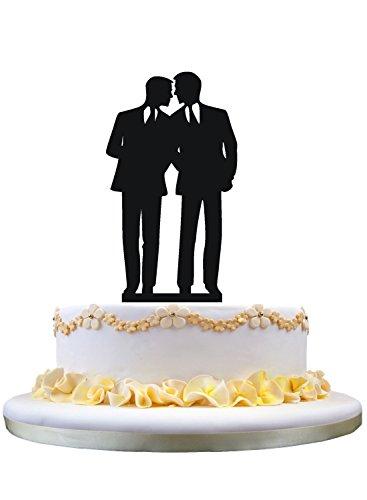 El novio gay del topper de la torta de boda para preparar el topper de la torta para el regalo de los hombres