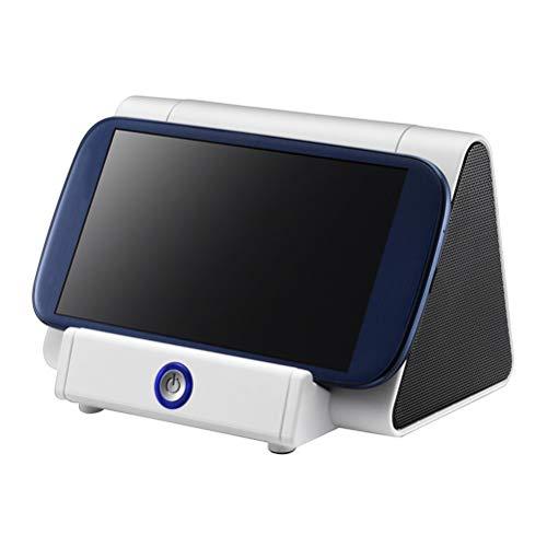 HDDFG Altavoz Inalámbrico Sensor Inteligente Amplificador Subwoofer Altavoz Ruidoso Soporte Sin Soporte Bluetooth (Color : White)