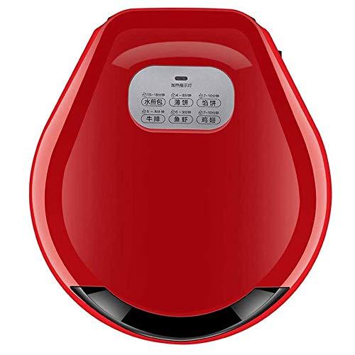 LQRYJDZ Versátil Plancha, 180 ° Health Grill con Cool Mango Touch, Uso Abierto o Cerrado, de Temperatura automático de Control (Color : Red)