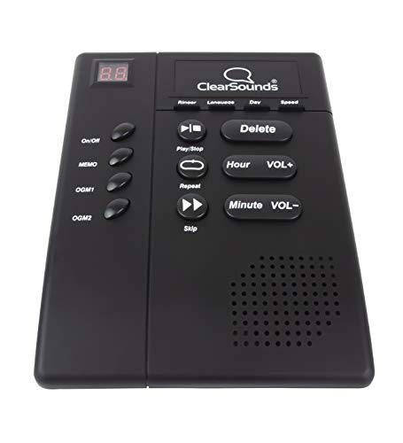 ClearSounds ANS3000 Amplified Answering Machine for Analog Telephones Landline with Up to 30dB Amplification