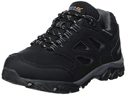 Regatta Chaussures Techniques De Marche Junior Basses Holcombe, Zapato para Caminar, Negro/Granito, 33 EU