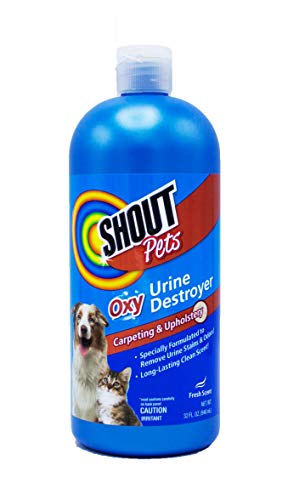 Shout for Pets Turbo Oxy Urine Destroyer | Carpet Cleaner and Pet Odor Eliminator in Fresh Scent, 32 Ounces, Model:FF4263