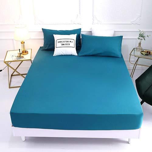 1 funda de colchón de 100% poliéster sólido con cuatro esquinas con banda elástica para cama (funda de almohada de solicitud) (color: Lanhui, tamaño: fundas de almohada de 50 cm x 70 cm)