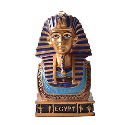 YUEXIN Oude Egyptische Hars Farao Beeldje Beeldje Decoratieve Ornament, Oude Egyptische Masker Standbeeld Home Decor Sculptuur Ambachten