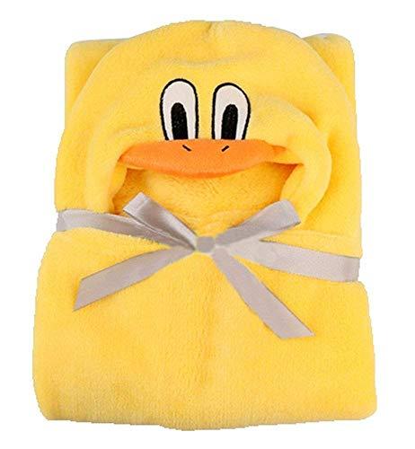 Très Chic Mailanda Bébé Sortie de Bain Animaux-Peignoir de Bain à Capuche-Serviette Peignoir à Capuche pour bébé 0-2 ans(100 * 100) (jaune)