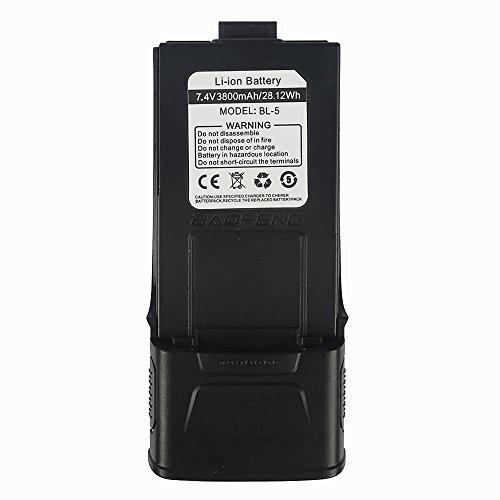 Baofeng 3800mAh Batterie 7.4V Li-ion Akku für Baofeng GT-3/GT-3TP Mark II/III Funkgerät