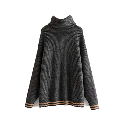 Women Turtleneck Knitted Loose Sweater Oversized Warm Thick Long Sleeve Pullovers Female Casual Chic Tops