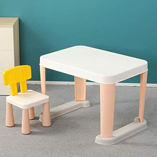 NSYNSY Kinder Aktivität Tisch und Stuhl Set Kunststoff Schreibtisch für Kleinkinder 2-6 Jahre alt kleines Kind Kinder Möbel Zubehör Square Dining Game Tisch