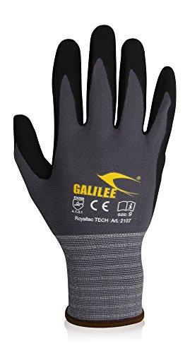 Galilee arbeitshandschuhe herren, schutzhandschuhe, gartenhandschuhe - atmungsaktiv, nylon, Prämie qualität - gr. 9, 12 paar