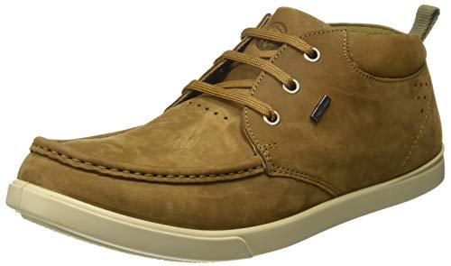 Woodland Men's Tobacco Leather Sneakers-10 UK/India (44 EU) (GC 2174116HKA)