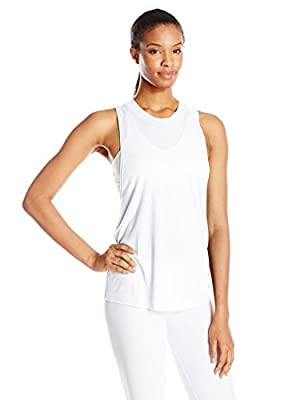 Alo Yoga Women's Heat Wave Tank, White, S