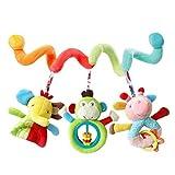 monshop Kinderwagen Spirale Spielzeug Für Babys, Babyschale Spielzeug Mädchen Junge Aktivität Spiral Plüschtier, Plüschtiere Bett Hängen Spielzeug Baby Autositz Hängen Spielzeug
