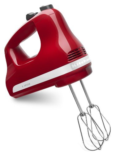 KitchenAid 5-Speed Ultra Power Hand Mixer, Empire Red