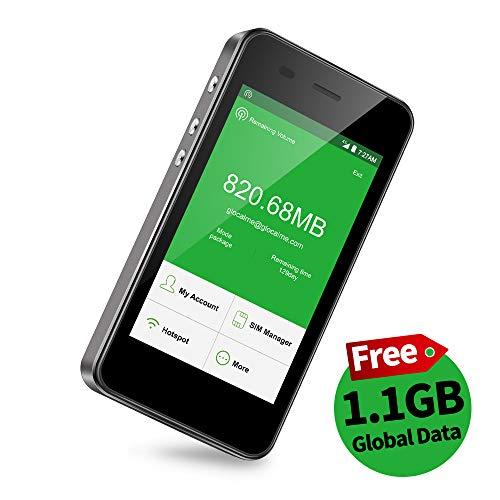 GlocalMe G3【公式販売】 (Black・黒) モバイル WiFi ルーター SIMフリー無料のグローバルデータ付き(1.0GB) ポケットWiFi 140を越える国や地域に対応 5350mAh モバイルバッテリー機能