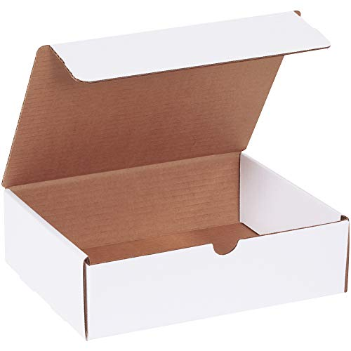 BOX USA BML1083 Literature Mailers, 10' x 8' x 3', White (Pack of 50)