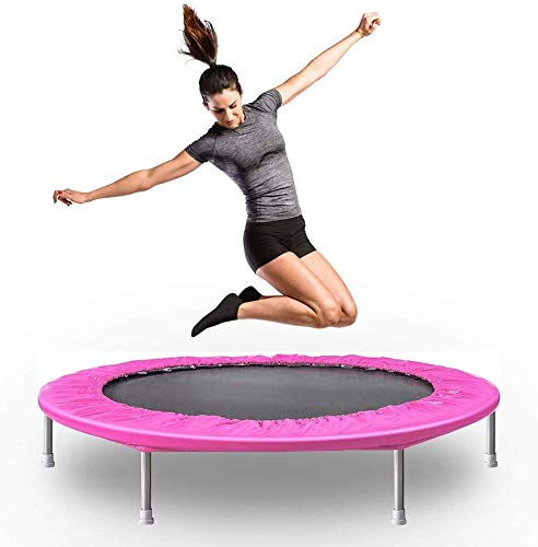 DJ Home Faltbare Mini-Trampolin, Fitness Trampolin Backboard, Erwachsene Übung Trampolin, Kinder-Trampolin (Color : Red)