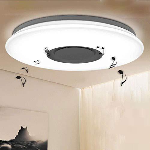 24W LED redondo techo entf cosecha de música App Diseño Moderno Blanco Cálido 6000K Indoor iluminación para habitación infantil Jardín Salón comedor