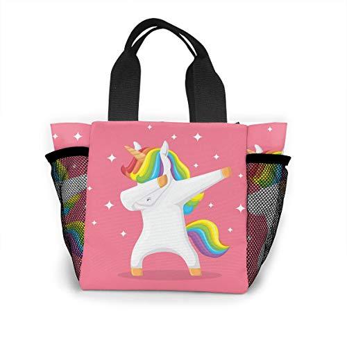 Animal-doing-dabbing-movement Handbag Women Fashion Bag Reusable Shopping Bags Light Handbags High Capacity Gift Bags Food Storage Bags