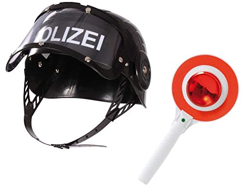BUSDUGA 2819 Polizeihelm mit Signalkelle mit Licht