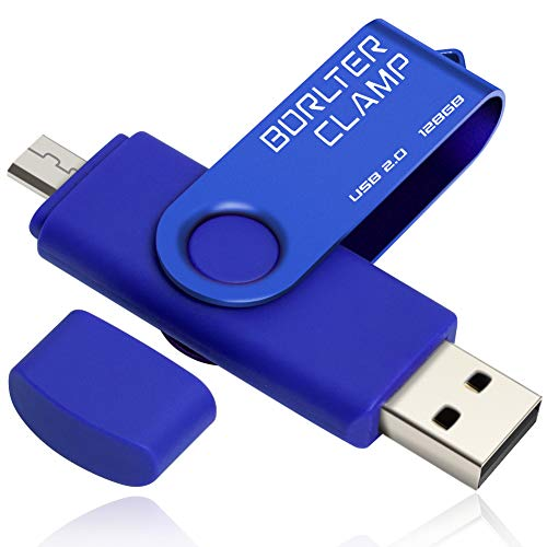 128GB Memoria USB de Puerto Micro USB, BorlterClamp Unidad Flash USB de...