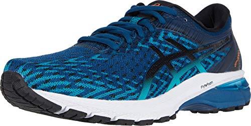 ASICS Men's GT-2000 8 Knit Running Shoes, 6, MAKO Blue/Black