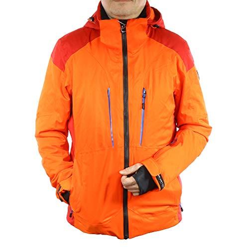 Falcon Herren Outdoor und Skijacke Funktionsjacke Keanu (Orange Rot, M)