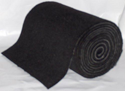 1 Roll Black16 oz UV stabilized 18inchesX18feet Boat Trailer Bunk Carpet.