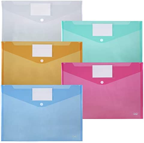 Mr Pen Plastic Envelopes 10 Pack A4 Letter Size Plastic Envelopes with Snap Closure Poly Envelope product image