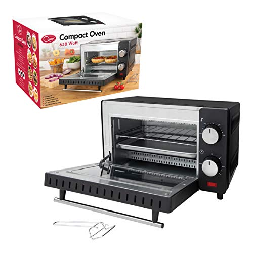 Quest 35409 9 Litre Mini Oven and Grill, 100-230°, 60 min Timer Auto Shut Off,...