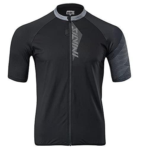 Silvini Turano Pro - Jersey para bicicleta de montaña con cremallera completa, color negro