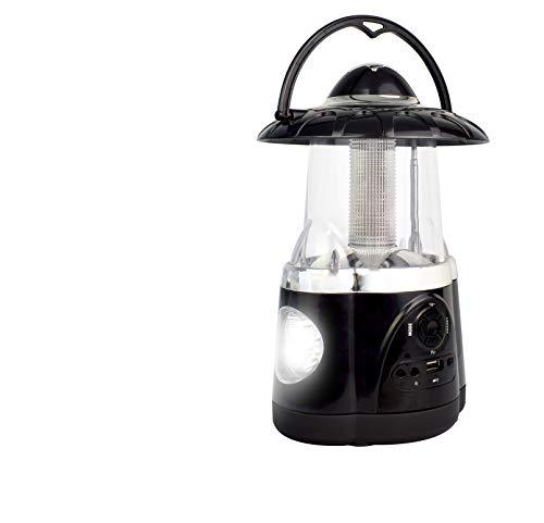 Northpoint Multifunctional Bluetooth Hurricane Lantern and Flashlight with FM Radio, Mic, 12 LED Lantern, 4 LED Flashlight, Camping Lantern, Outdoor Lantern, Emergency use