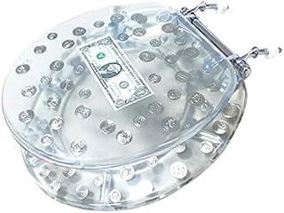 Big Money Heavy Duty Toilet Seat - Standard Size - Real Dollar Bill Inside!