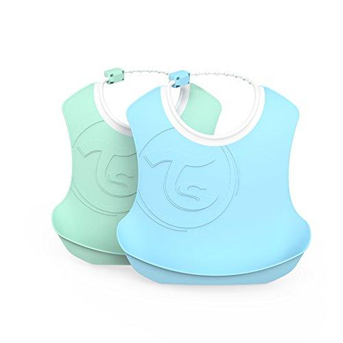 Vital Innovations Twistshake 78220 Bavoir pour enfant Bleu pastel