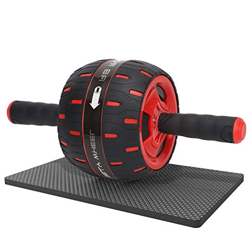 Ab Roller, Core Exercise Stomach Abdominal Power Trainer Spring Back Rolling Abs Gym Fitness Wheel, Resistance Portable Wide Travel Rebound Carver Roller for Men/Women/Home Workout Machine