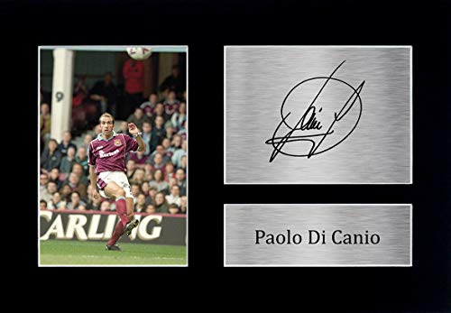 HWC Trading Paolo Di Canio Signed A4 Printed Autograph West Ham United Photo Display