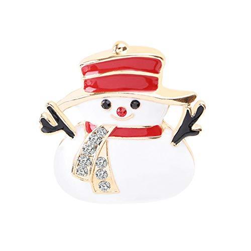 Demarkt Rhinestone Snowman Brooch Costume Accessory Jewellery for Gift