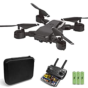 JoyGeek 720P HD Drone with Camera for Kids Adults Gifts, Foldable FPV Remote Control RC Quadcopter for Children Beginners Boys Toys, Wifi Live Video Gyroscope Aircraft Altitude Hover Plane for iPhone