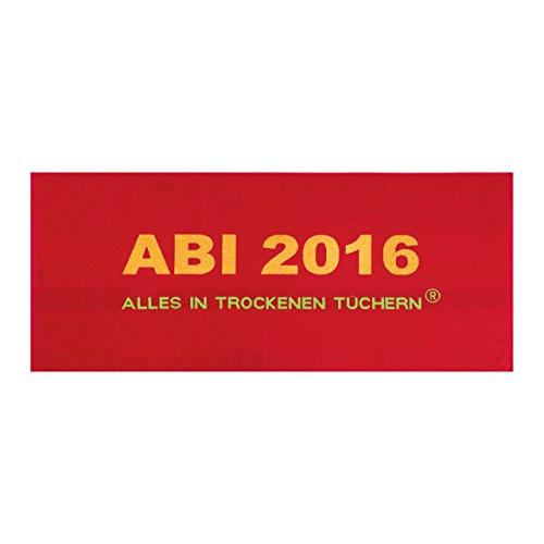 Vorjahrestuch: Egeria, Handtuch Abi 2016 - 75x180cm, Rot