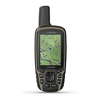 GARMIN GPSMAP 64sx-GPS de randonnée Portable avec capteurs de Navigation altimètre barométrique et Compas Adulte-Mixte, Noir, m