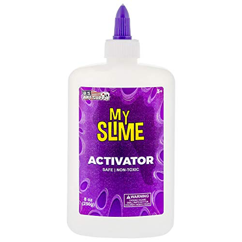 My Slime Activator Solution 8 Ounce Bottle - Make Your Own Slime, Just Add Glue - Kid Safe, Non-Toxic - Replaces Borax, Baking Soda, Contact Lens Solution - Activating Making PVA School Glue Slime