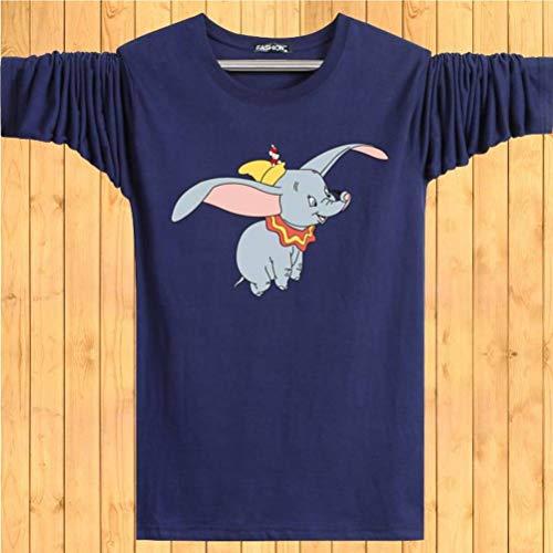 Herbst Rundhals T-Shirt Männer Dünne Langarm-T-Shirt Student Jugendhemd, Good dress, Navy blau, m