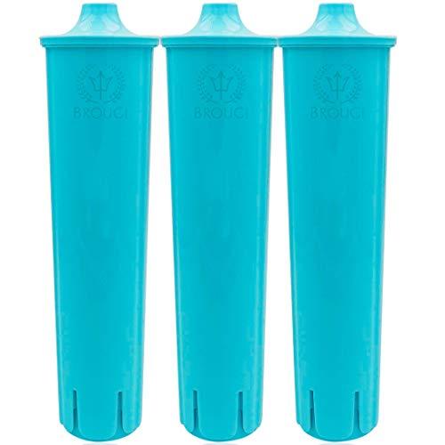 BROUGI kompatibel mit Wasserfilter JURA CLARIS BLUE Filterpatronen Impressa ENA Micro für Kaffeemaschine Kaffeevollautomat Filter geeignet effektiv mit Reinigungstabletten Entkalkungstabletten (3)