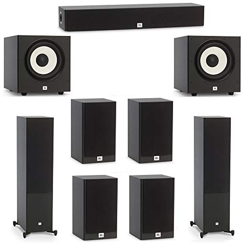 Best Price JBL 7.2 System with 2 JBL Stage A190 Floorstanding Speakers, 1 JBL Stage A135C Center Spe...