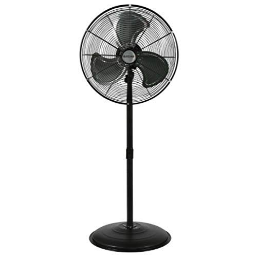 "Hurricane HGC736472 Pedestal Fan-20 Inch, Pro Series, High Velocity, Heavy Duty Metal For Industrial, Commercial, Residential, Greenhouse Use-ETL Listed, 20"", Black"