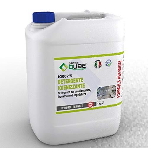 ig002/5 - Detergente igienizzante Professionale per l'igienizzazione di superfici e pavimenti. 5LT