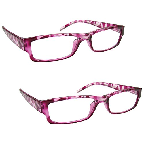 The Reading Glasses Company Rosa Tartaruga Leggero Comodo Lettori Valore 2 Pacco Stile Designer Uomo Donna Uvr2Pk032Pk +2,50 - 70 Gr